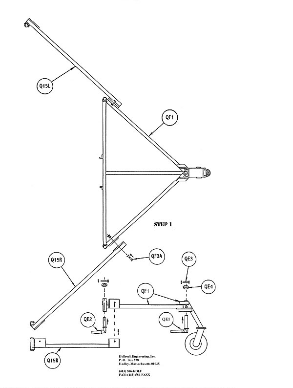 Quick Pick Staggered Ball Picker Parts diagram